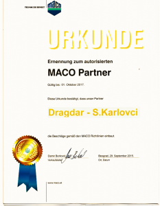 MACO_DRAGDARPVC_sertifikat2016